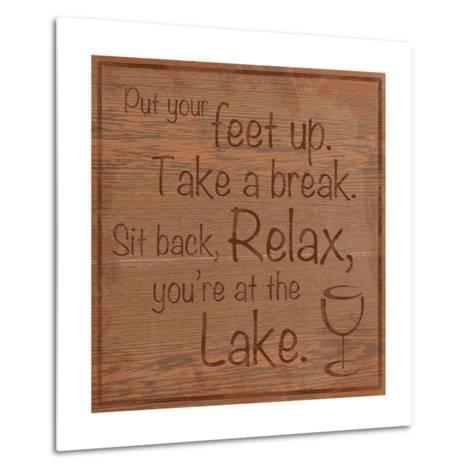Relax Lake-Lauren Gibbons-Metal Print