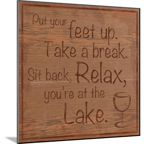 Relax Lake-Lauren Gibbons-Mounted Premium Giclee Print