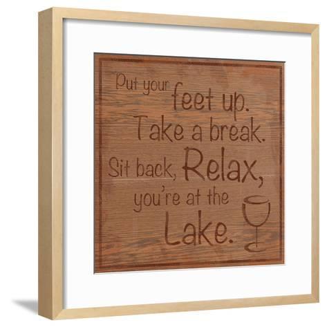 Relax Lake-Lauren Gibbons-Framed Art Print