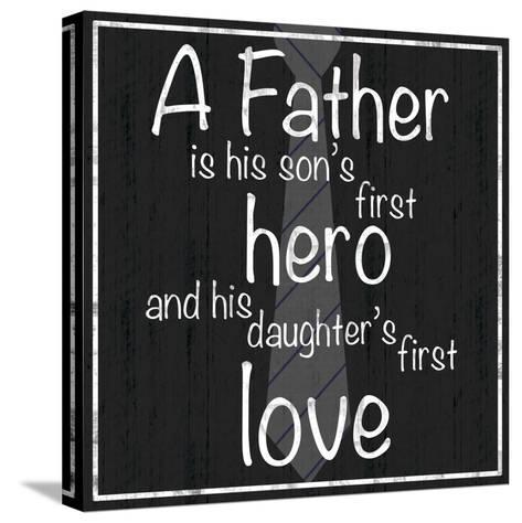 Father Hero-Lauren Gibbons-Stretched Canvas Print