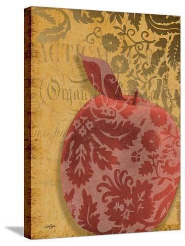 Red Apple Damask-Diane Stimson-Stretched Canvas Print