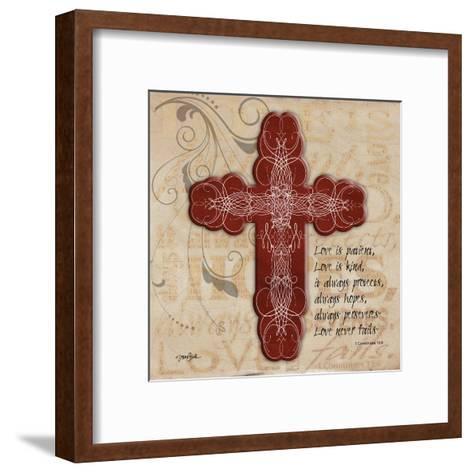 Blingy Cross 1-Diane Stimson-Framed Art Print