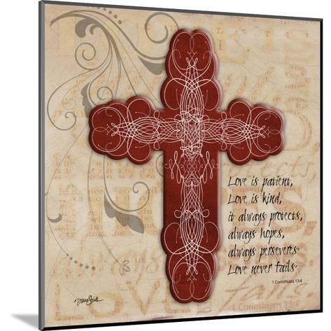 Blingy Cross 1-Diane Stimson-Mounted Art Print