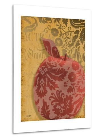 Red Apple Damask-Diane Stimson-Metal Print