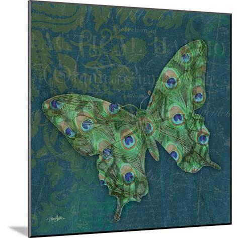 Peacock Bfly 1-Diane Stimson-Mounted Art Print