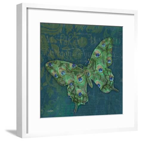 Peacock Bfly 1-Diane Stimson-Framed Art Print