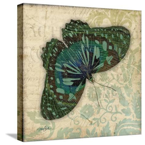 Peacock Bfly 2-Diane Stimson-Stretched Canvas Print