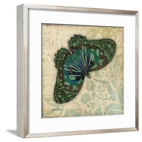 Peacock Bfly 2-Diane Stimson-Framed Art Print