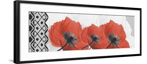 Ikat Poppies-Albert Koetsier-Framed Art Print