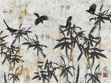 Bamboo Jungle-Diane Stimson-Stretched Canvas Print