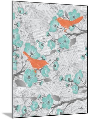 Cherry Blossom Birds 6-Diane Stimson-Mounted Art Print