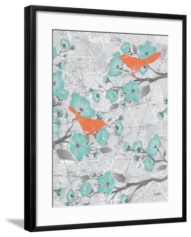 Cherry Blossom Birds 6-Diane Stimson-Framed Art Print