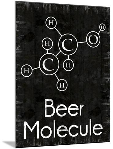 Beer Molecule Rect-Lauren Gibbons-Mounted Art Print