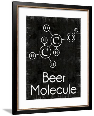 Beer Molecule Rect-Lauren Gibbons-Framed Art Print