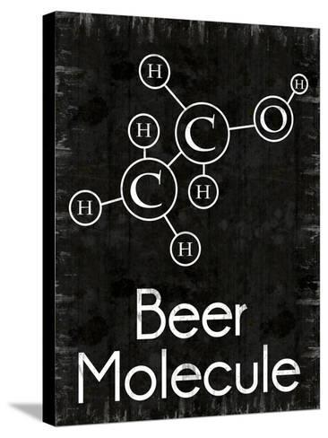 Beer Molecule Rect-Lauren Gibbons-Stretched Canvas Print