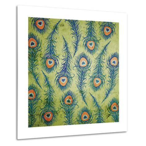 Peacock Pattern 1-Diane Stimson-Metal Print