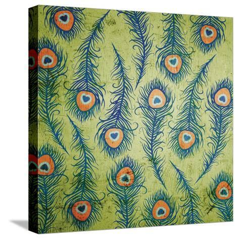 Peacock Pattern 1-Diane Stimson-Stretched Canvas Print