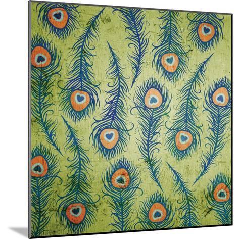 Peacock Pattern 1-Diane Stimson-Mounted Art Print