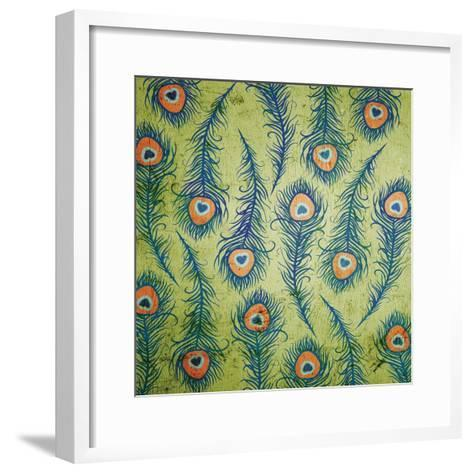 Peacock Pattern 1-Diane Stimson-Framed Art Print