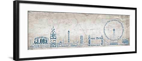 London Skyline Blue-Diane Stimson-Framed Art Print