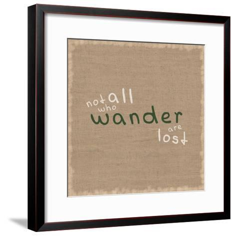 Not All Who Wander-Lauren Gibbons-Framed Art Print
