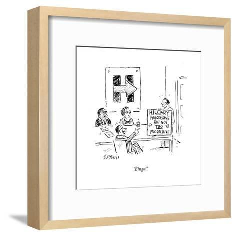 """Bingo!"" - Cartoon-David Sipress-Framed Art Print"