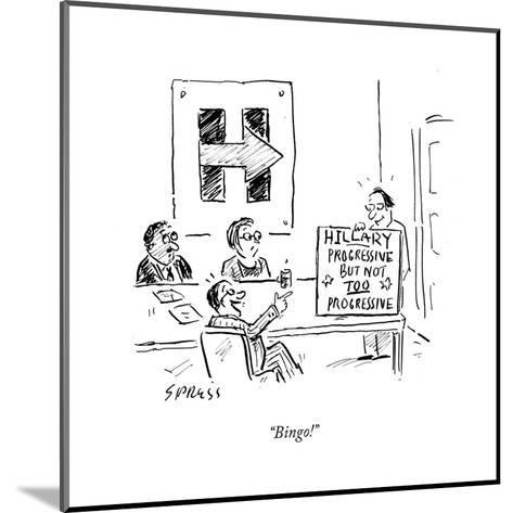 """Bingo!"" - Cartoon-David Sipress-Mounted Premium Giclee Print"