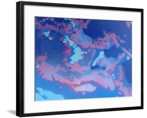 Abstract Waves-Abstract Graffiti-Framed Art Print