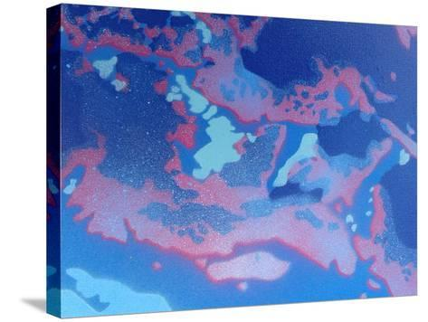 Abstract Waves-Abstract Graffiti-Stretched Canvas Print