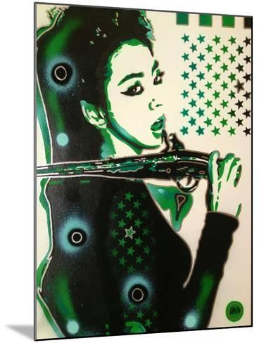 Asia Green-Abstract Graffiti-Mounted Giclee Print