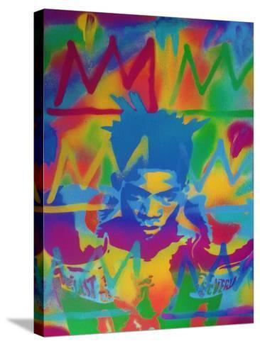 King Samo-Abstract Graffiti-Stretched Canvas Print
