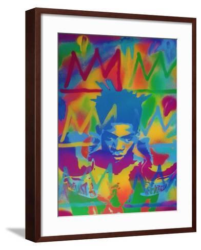 King Samo-Abstract Graffiti-Framed Art Print