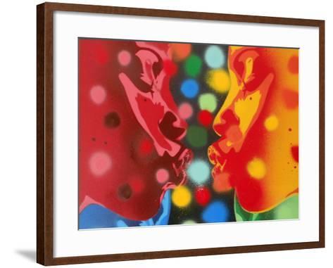 Atoms-Abstract Graffiti-Framed Art Print