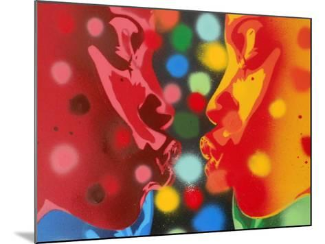 Atoms-Abstract Graffiti-Mounted Giclee Print