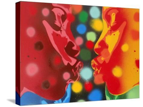 Atoms-Abstract Graffiti-Stretched Canvas Print