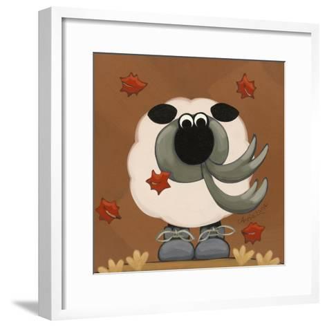 A Sheep in Fall Clothing-Annie Lane-Framed Art Print