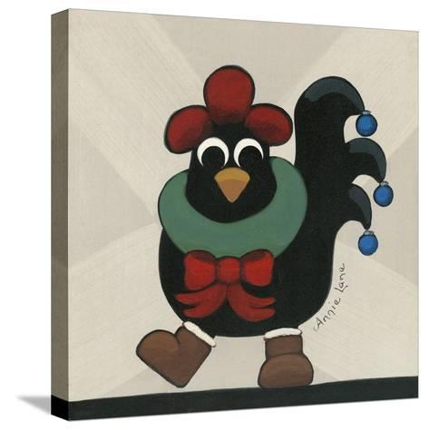 Merry Clucking Christmas-Annie Lane-Stretched Canvas Print