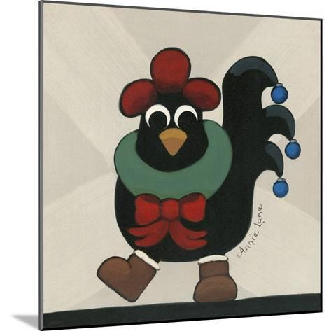Merry Clucking Christmas-Annie Lane-Mounted Giclee Print