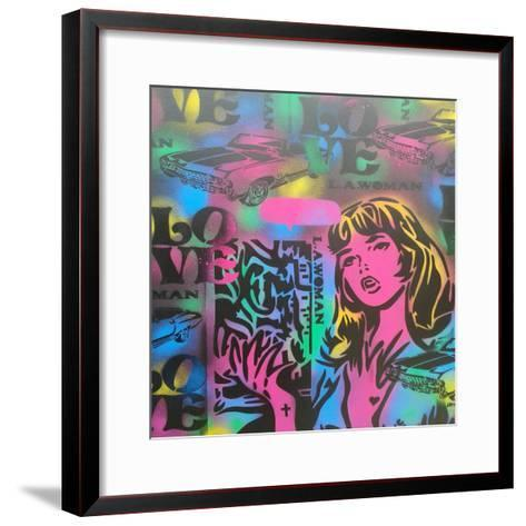Iconic Love-Abstract Graffiti-Framed Art Print