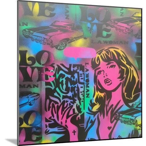 Iconic Love-Abstract Graffiti-Mounted Giclee Print