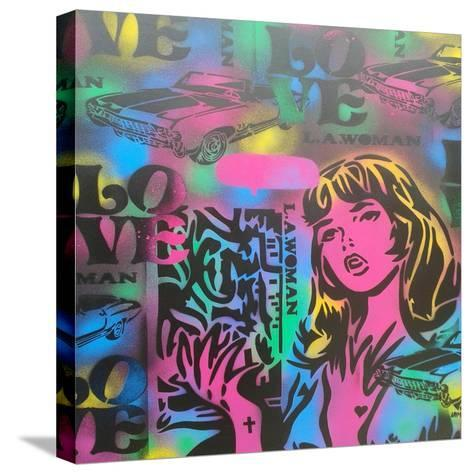 Iconic Love-Abstract Graffiti-Stretched Canvas Print