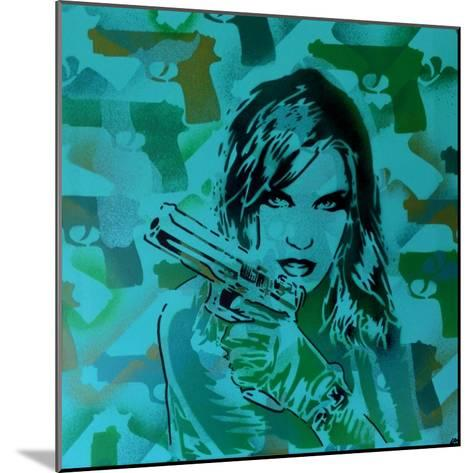 Revolver Greens-Abstract Graffiti-Mounted Giclee Print
