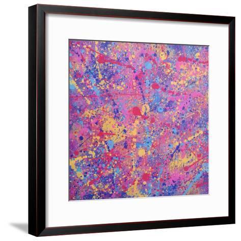 Splash I-Abstract Graffiti-Framed Art Print
