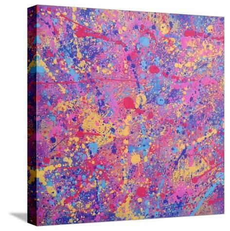 Splash I-Abstract Graffiti-Stretched Canvas Print
