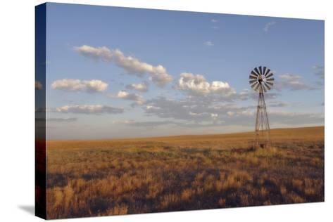 South Leunberger Windmill at Sunset-Amanda Lee Smith-Stretched Canvas Print