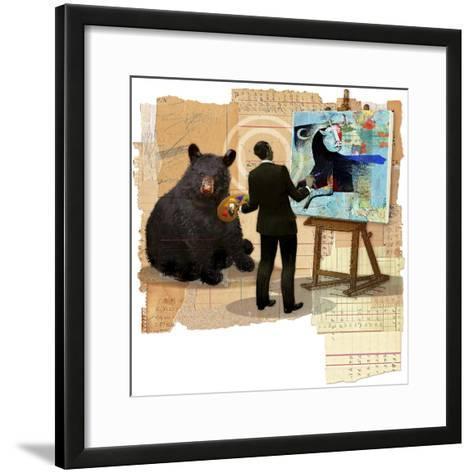 Bull Spin-Anthony Freda-Framed Art Print