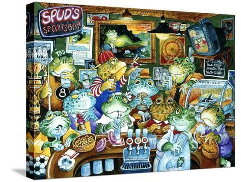 Spud's Sportsbar-Bill Bell-Stretched Canvas Print