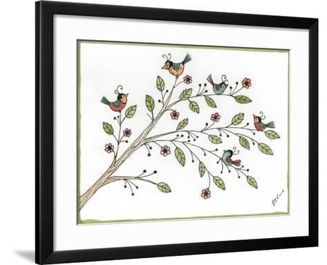 Partridges-Beverly Johnston-Framed Art Print