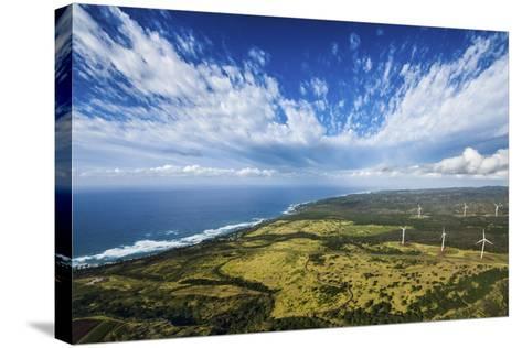 North Shore Windmills-Cameron Brooks-Stretched Canvas Print