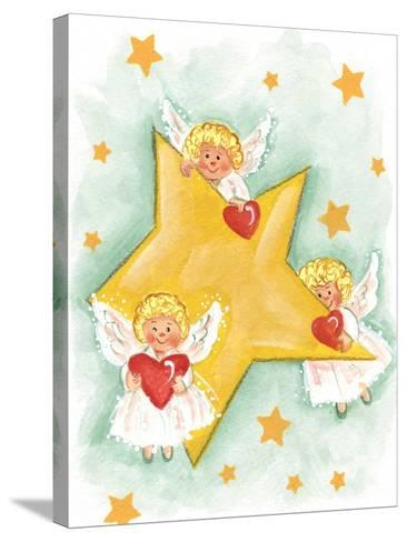 Angels and Stars-Beverly Johnston-Stretched Canvas Print